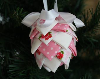 Xmas tree decoration, fabric decoration handmade