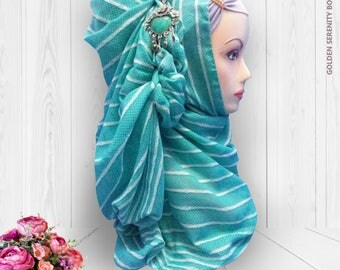 Striped Pashmina Hijab / Scarf / Head Scarf