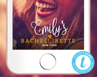 Bachelorette Snapchat Geofilter, EDITABLE TEMPLATE, Bachelorette Filter, Hen Party Geofilter, Bachelorette Geofilter, Party Snapchat Filter