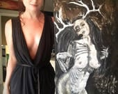 The Wendigirl - Terrifying Dark Art NSFW Monster Girl Painting - Original on Heavyweight Canvas