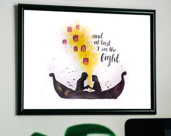 Tangled Hand-Painted Art Print | A4/A5 Watercolour Quote