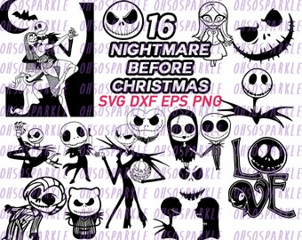 nightmare before christmas svg, jack skellington svg,eps, clipart, dxf, png,line art, silhouette, vector, vinyl, stencils, cartoon halloween