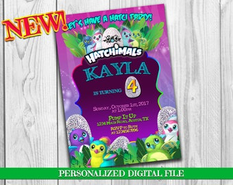 Hatchimals Birthday Party Invitation, Hatchimals Birthday Invitation, Hatchimal Party Invites, Hatchimal Invitation, Hatchimals party