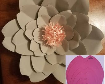 Paper flower templates (HARDCOPY) 6-10