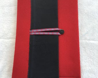Felt & leather iPad case