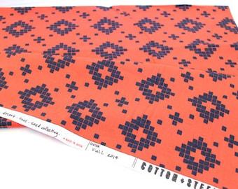 Cotton + Steel Mesa Tile Coral by Alexia Abegg Modern Quilting Cotton - 0.5 metre