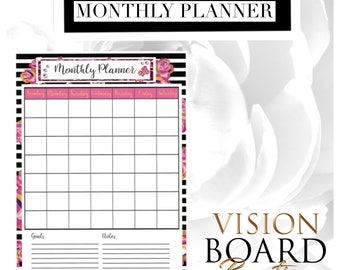 Monthly Planner Sheet