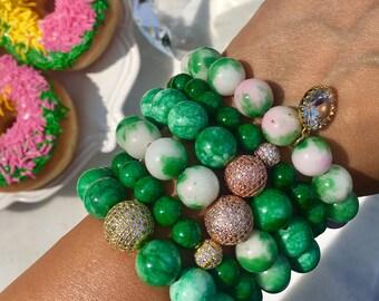 The Positano Jade beaded gemstone bracelet