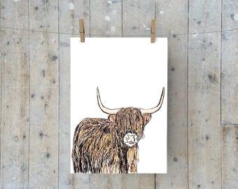 A3 Highland Cow