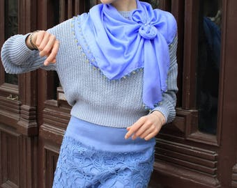Cotton scarf, scarves, woman scarf, Gift for her, Gift for women, scarf for women, casual scarf, beautiful scarf, blue scarf, Fine scarf