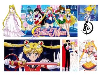 sailor moon icing sheet edible Image - Wrap Around, Sailor Moon Cake Topper