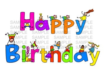 Happy Birthday icing Sheet Edible Image Cake Topper