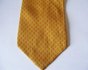 """Angelo Bosani Tie Rack Silk Necktie - Yellow White Flower- 59"""""""