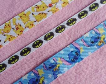 Cute pikachu, stitch and batman inspired choker