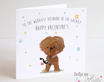 Star Wars CHEWBACCA Valentines Card   Husband Wife Boyfriend Girlfriend