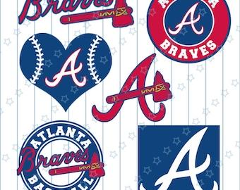 INSTANT DOWNLOAD - Atlanta Braves Cut Files, Atlanta Braves svg, Atlanta svg, Baseball svg, Baseball Clipart, Cut Files