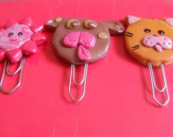 original and funny bookmark polymer clay