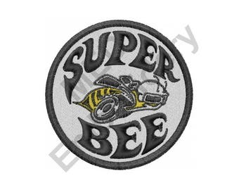 Bee - Machine Embroidery Design, Super Bee