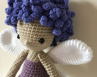 Handmade 'Aurelie' Fairy Crochet Amigurumi Doll - from a pattern by Amour Fou / Fairy Doll / Crochet Doll / Amigurumi Doll