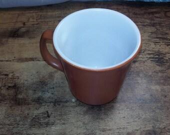 brown vintage corning ware coffee mug