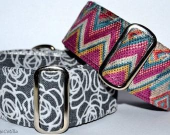 Ethnic - Martingale collar for galgos, greyhound, dogs, adjustable, 100% cotton. El Galgo Cotilla