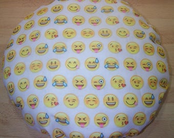 """Personalized printed round cushion """"emoticons"""""""