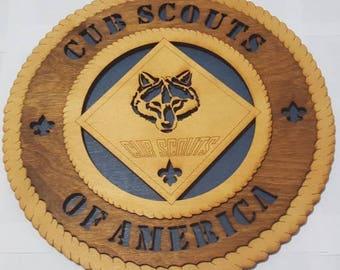 Cub Scouts Wall Plaque Wooden Model