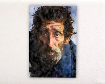 Man - Watercolor prints, watercolor posters, nursery decor, nursery wall art, wall decor, wall prints, portrait | Tropparoba 100% made Italy
