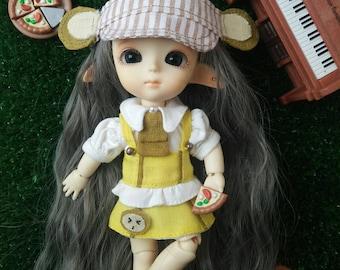 Little Monkey Uniform Outfits for BJD Lati Yellow/Pukifee