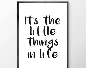 It's The Little Things In Life Wall Print - Wall Art, Personal Print, Home Decor, Wifi