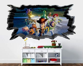 Toy Story 3D Cracked Wall Effect Kids Wall Sticker Art Decal Mural 628 Part 93