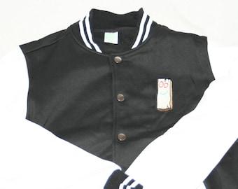Ed, Edd and Eddy Plank Iron-on Patched Varsity Jacket