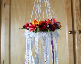 Hanging floral Bohemian style