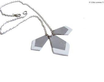 CONCRETE IMITATION / / Scandinavian industrial style necklace geometric concrete imitation