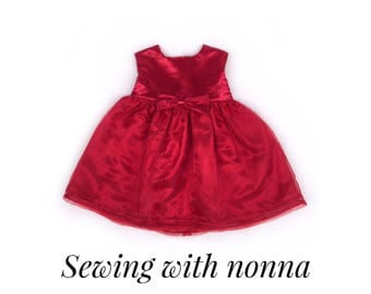 Girls Christmas Dress / First Christmas Outfit / Toddler Christmas Dress / Baby Christmas Dress / Red Dress / Formal Dress / Party Dress