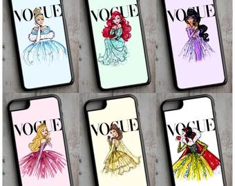 Disney Princesses iPhone Case Cover Cinderella - Ariel - Jasmine - Aurora - Belle - Snow White