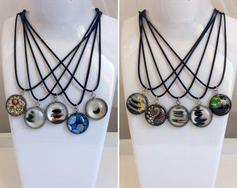 Necklace style 20 mm cabochon style Zen, Meditation, stone, calm
