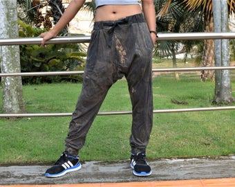 Drop crotch pants men women, Baggy pants, Boho pants, Hippie pants, handmade unique item