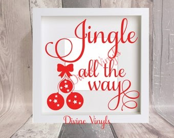 jingle all the way vinyl decal