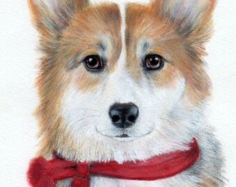 Custom Mixed Media Pet Portrait
