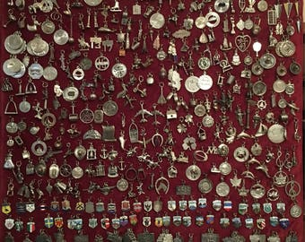 Vintage Sterling Silver and 800 Silver Travel Charms 1950s to 1970s Vintage New Photos as of Feb 17 2018 @ 10 dollars each charm