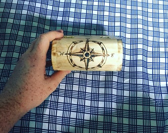 Wooden Compass mini chest
