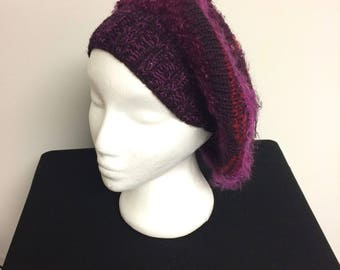 Beret luxurious fiber stylish soft warm jewel tones
