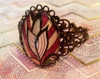 Antiqued Bronze Cuff Bracelet
