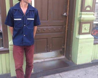 Vintage 70s Men's Wide Collar John Weitz Shirt