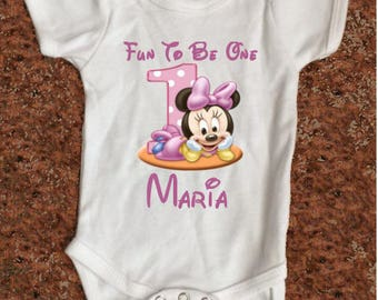 Minnie Mouse 1st One Year Old Shirt - Mickey Mouse Disney Family Vacation Shirt