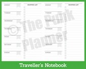 D015-TN WO1P Shopping List Notebook Insert