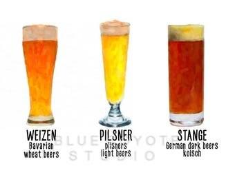 Beer Print, Bar Decor, Beer Mug Art, Beer Poster, Microbrew Art, Bar Art Digital Download Printable File #bc44