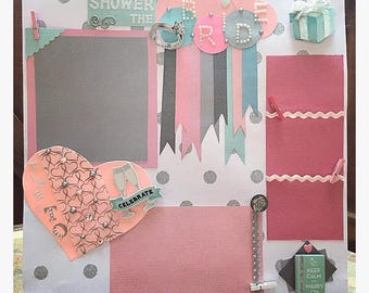 Wedding Premade Scrapbook Page   Bridal shower   Wedding Scrapbook   Premade  Scrapbook page   12x12Premade scrapbook   Etsy. Premade Wedding Scrapbook. Home Design Ideas