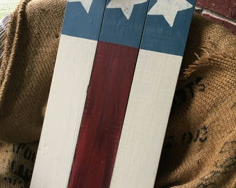 Rustic Americana Red White & Blue Sign